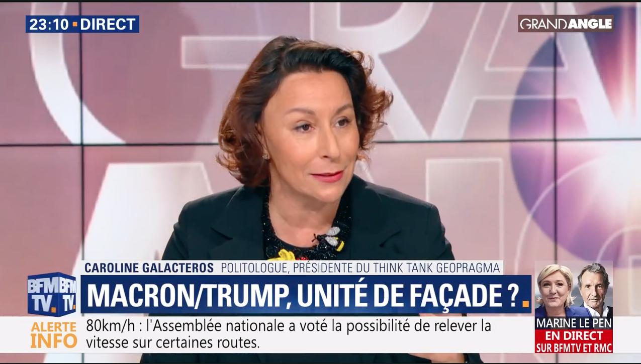 """C. Galactéros sur BFM TV le 6 juin : """"Macron/Trump, unité de façade ?"""""""