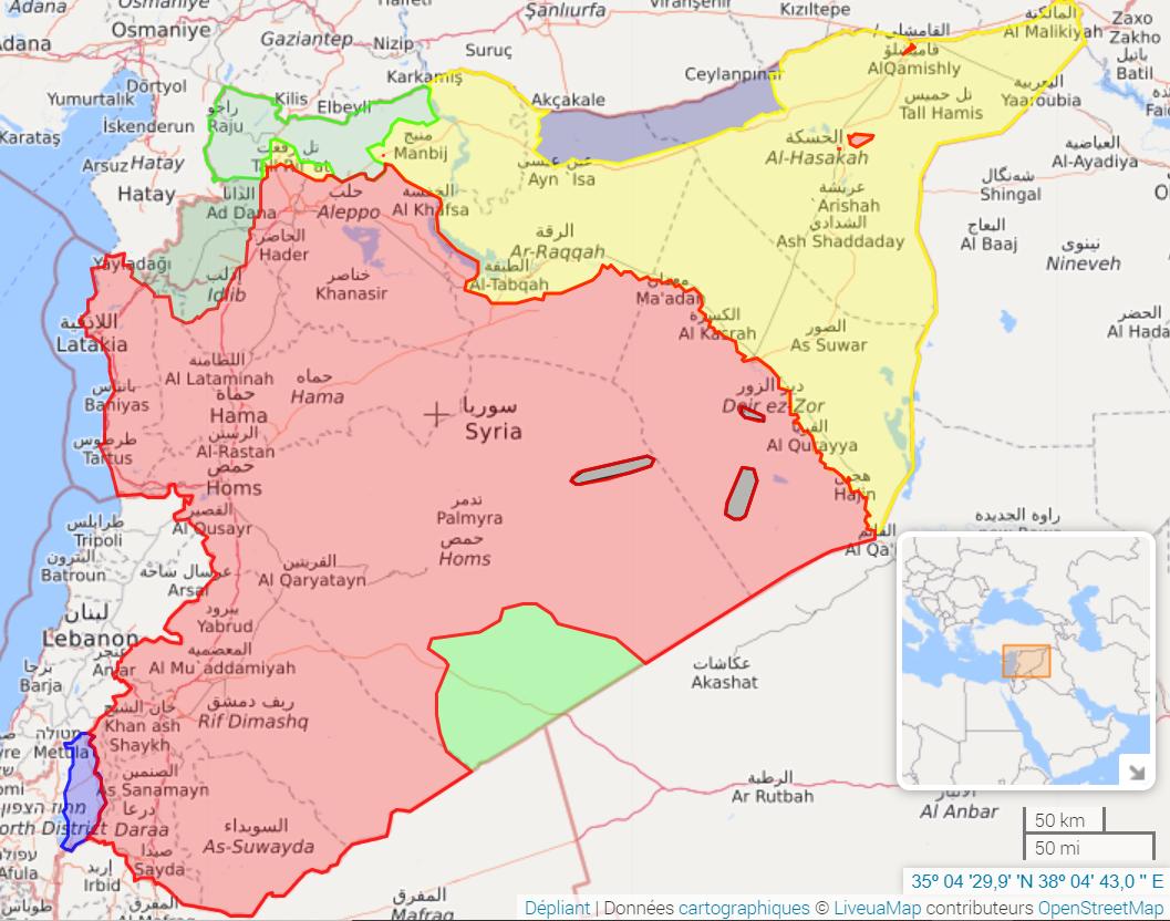 Veille hebdomadaire sur le conflit syrien