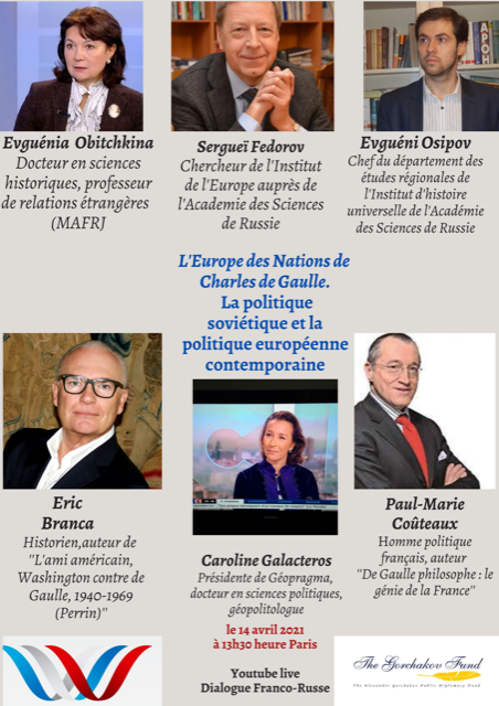 L'Europe des Nations de Charles de Gaulle – Dialogue franco-russe